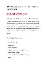 1996 nissan sentra service repair manual download