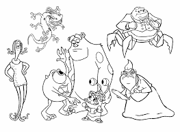coloring page monsters inc monsters inc coloring pages all characters ribsvigyapan com
