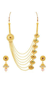 gold plated necklace set images Buy sukkhi alluring jalebi design 7 string gold plated necklace jpg