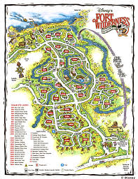 Map Of Orlando by Fort Wilderness Campground Walt Disney World Orlando Florida