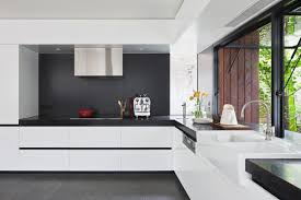Black Kitchen Countertops by 40 Beautiful Black U0026 White Kitchen Designs
