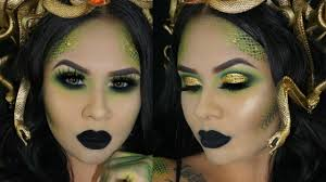 Eye Halloween Makeup by Medusa Halloween Makeup Tutorial How To Snake Scales Youtube