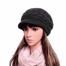 barret hat high quality women thicken cotton beret hat faux fur soft warm