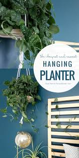 remodelaholic the easiest diy hanging planter in the world