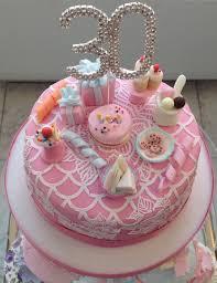 teeny weeny tiny shabby chic tea party 30th birthday cake cake