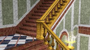 mod the sims king staircase railing