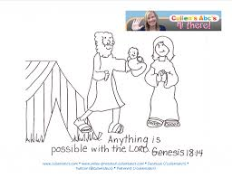 abraham and sarah activity page your child colors the abraham and