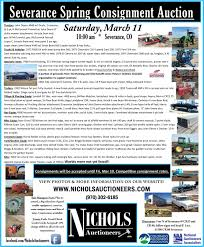 severance spring consignment auction in severance colorado by