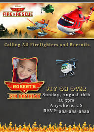 75 best disney planes fire and rescue birthday invitations and