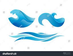 ocean wave logo design vector template stock vector 319009508