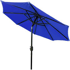 pure garden 9 u0027 aluminum patio umbrella with auto crank walmart com
