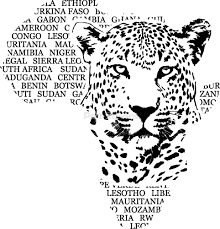 africa map drawing leopard africa map by port redbubble