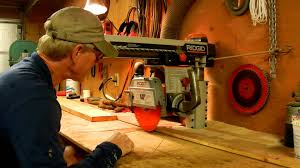 Dewalt Wet Tile Saw Manual by How To Use A Radial Arm Saw Youtube