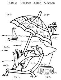 color number math worksheet printable version middle