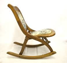 Mission Oak Rocking Chair Antique Carved Folding Rocking Chair U2014 Jen U0026 Joes Design