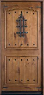 Exterior Door Hardware Rustic Door 36 In X 80 In Rustic Mahogany Type Left Inswing