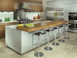 cuisine avec bar table ilot cuisine avec table coulissante pour idees de deco newsindo co