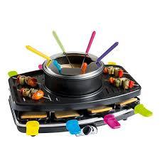 machine a cuisiner appareil 3 en 1 raclette grill fondue domoclip raclettes
