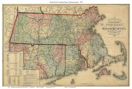 Massachusetts Map Of Towns by Prints Of Old Massachusetts State Maps