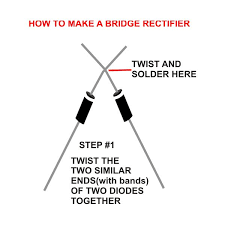 how to build a bridge rectifier how a rectifier works in half