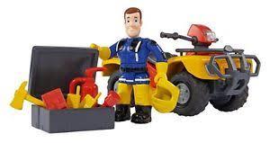 toy car fireman sam mercury quad figure accessories