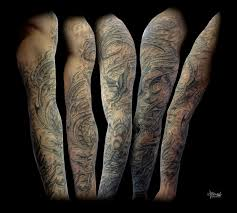 warrior sleeve tattoo serpent warrior full sleeve by loren86