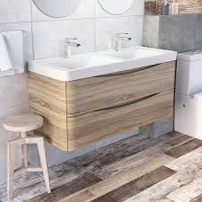 harbour clarity 1200mm wall mounted vanity unit u0026 double basin