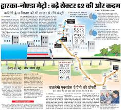 Metro Blue Line Map Delhi by Noida Metro Extensions To Sec 62 And Greater Noida Ncrhomes Com