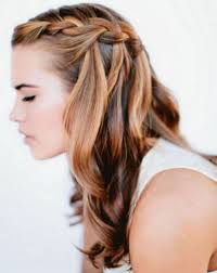 half up half down wavy hairstyle holiday half updo with tousled