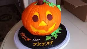 halloween jack o u0027 lantern cake youtube