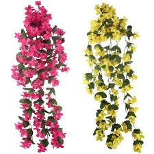 hanging flowers artificial silk orchid artificial flower garland wall hanging