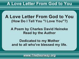 a love letter from god to you poem