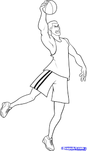 how to draw a basketball player step by step sports pop culture