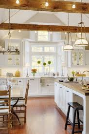 Decorative Beams Kitchen Outstanding Kitchen Lighting Vaulted Ceiling Traditional