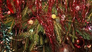 Decorate Christmas Tree Ribbon Video by Christmas Tree Decorated With Lights Balls Flowers Ribbons And