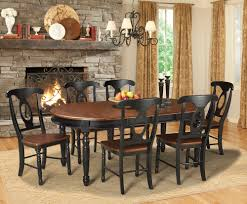 7 piece black dining room set highland black 7 piece dining room