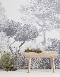 chinese storytelling trees wall mural grey children u0027s wallpaper