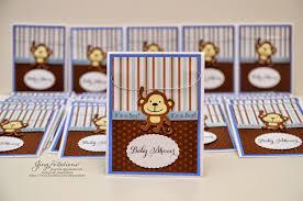 Baby Boy Monkey Theme Birthday And Baby Shower Invitations Monkey Theme
