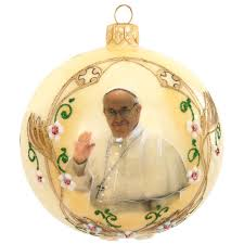 pope francis glass ornament religious christmas ornaments