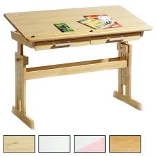 bureau en pin bureau enfant en pin bureau junior hauteur table pin massif