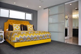 Glass Bedroom Doors Solar Shades For Sliding Glass Doors Bedroom Contemporary With Bed