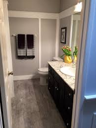 our bathroom makeover paint color is behr gentle rain and trim is