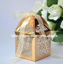 indian wedding gift box party favors 100pcs metallic paper gold color gift box