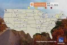 peak fall color droughts leaves change week