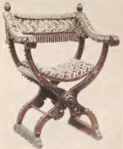 Savanarola Chair Renaissance Furniture
