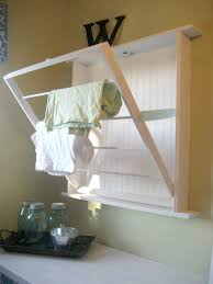 laundry room chic wall drying rack laundry wall mounted dryer
