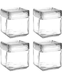glass kitchen canisters airtight spectacular deal on set of 4 anchor hocking stackable glass