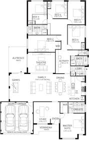 Single Story House Floor Plans Wa Home Designs New At Trend 5 Bedroom Home Designs Floor Plan