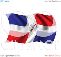 Dominican Republic Flag History Royalty Free Rf Clipart Illustration Of A Wavy Dominican