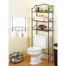 bathroom appealing over th toilet etagere design 3 wire shelves